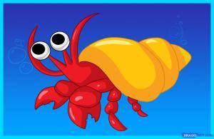 Hermit Crab Cartoon